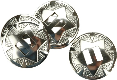 Tandy Leather Star Conchos 1-1/4' (3.2 cm) Nickel Plated 10/pk 1320-02 132002
