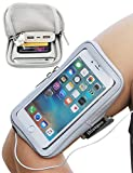Samsung Armband, iMangoo Samsung Note 4 5 Armband Sports Pouch Running Pack Armband Gym Wrist Bag Touchscreen Sleeve Key Holder Wallet Case Cover Arm Band for Samsung HTC LG OnePlus Smartphone Grey