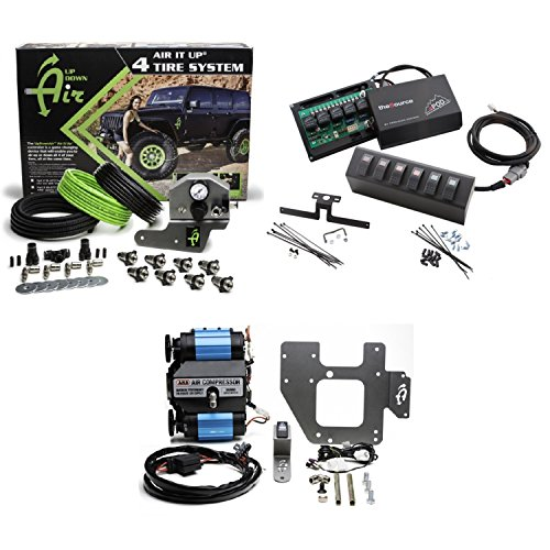 - Up Down Air 22-7810/69-0717 Air It Up 4 Tire On Board Air Delivery w/ARB CKMTA12 Compressor & sPOD 600-07 6 Switch 2 Red/Amber/Green Source System for 07-08 Wrangler JK