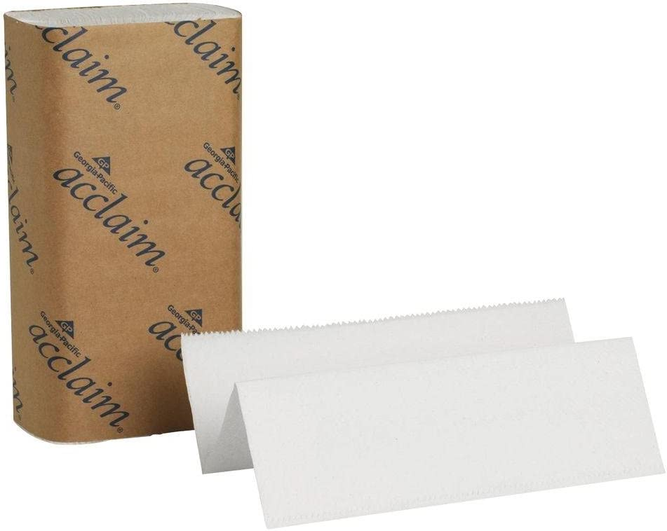 9.4 Length x 9.2 Width Pack of 1 Individual Roll - 250 per Pack Georgia-Pacific Acclaim 20204 White Multifold Paper Towel