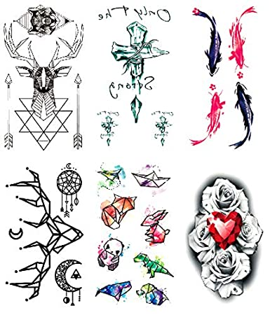 Amazon Com Oottati 2018 Small Cute Temporary Tattoos Stickers 6