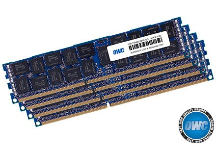 OWC 64.0GB (4 x 16GB) PC3-14900 1866MHz DDR3 ECC-R SDRAM Memory Upgrade Kit For Mac Pro 2013 (Ecc Sdram Registered)