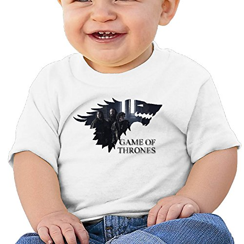 Price comparison product image Boss-Seller Gamethron Dragon Sixth Season Short Sleeve Shirt For 6-24 Months Toddler Size 6 M White