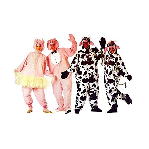 Butterick Sewing Pattern 3052 ~ Adult Cow & Pig Costume ~ Sizes XS-Large