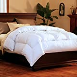 Pacific Coast SuperLoft Down Comforter [ Extra Fluffy, All Year / Season,True Baffle Box Design with Duvet loops, Allergy Free, Hyperclean with 100% Cotton Barrier Weave Fabric ] - King