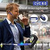 Bluetooth Headset CVC8.0 Dual-Mic Active Noise