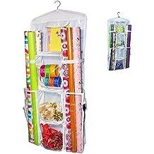 Aotuno Double-Sided Hanging Gift Wrap Organizer Storage