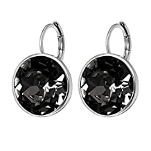 Xuping Prime Day Deal 2017 Hot Sale Luxury Platinum Color Plated Crystals from Swarovski Hoop Earrings Women Lady Wedding Thanksgiving Gifts Jewelry