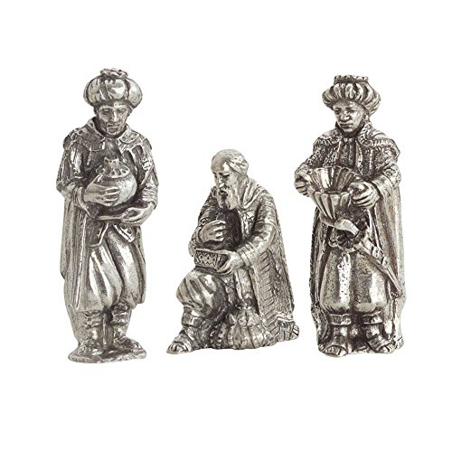 DANFORTH - Wisemen Pewter Nativity Set - Handcrafted - Gift Boxed - Made in USA