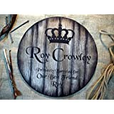 Custom sign inspired by whiskey barrel heads | Personalized Gifts | Rustic wall decor | Unique mens gift