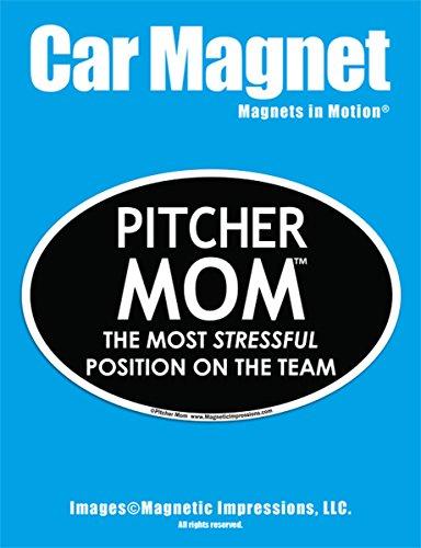 Pitcher Mom Car Magnet
