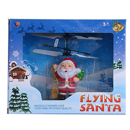WILLTOO Kids Toys Flying Ball Helicopter Santa Claus Electric Aircraft – LED Light Infrared Sensor – Chirstmas Gifts (Red)