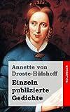 Einzeln Publizierte Gedichte, Annette von Droste-Hülshoff, 1482380536
