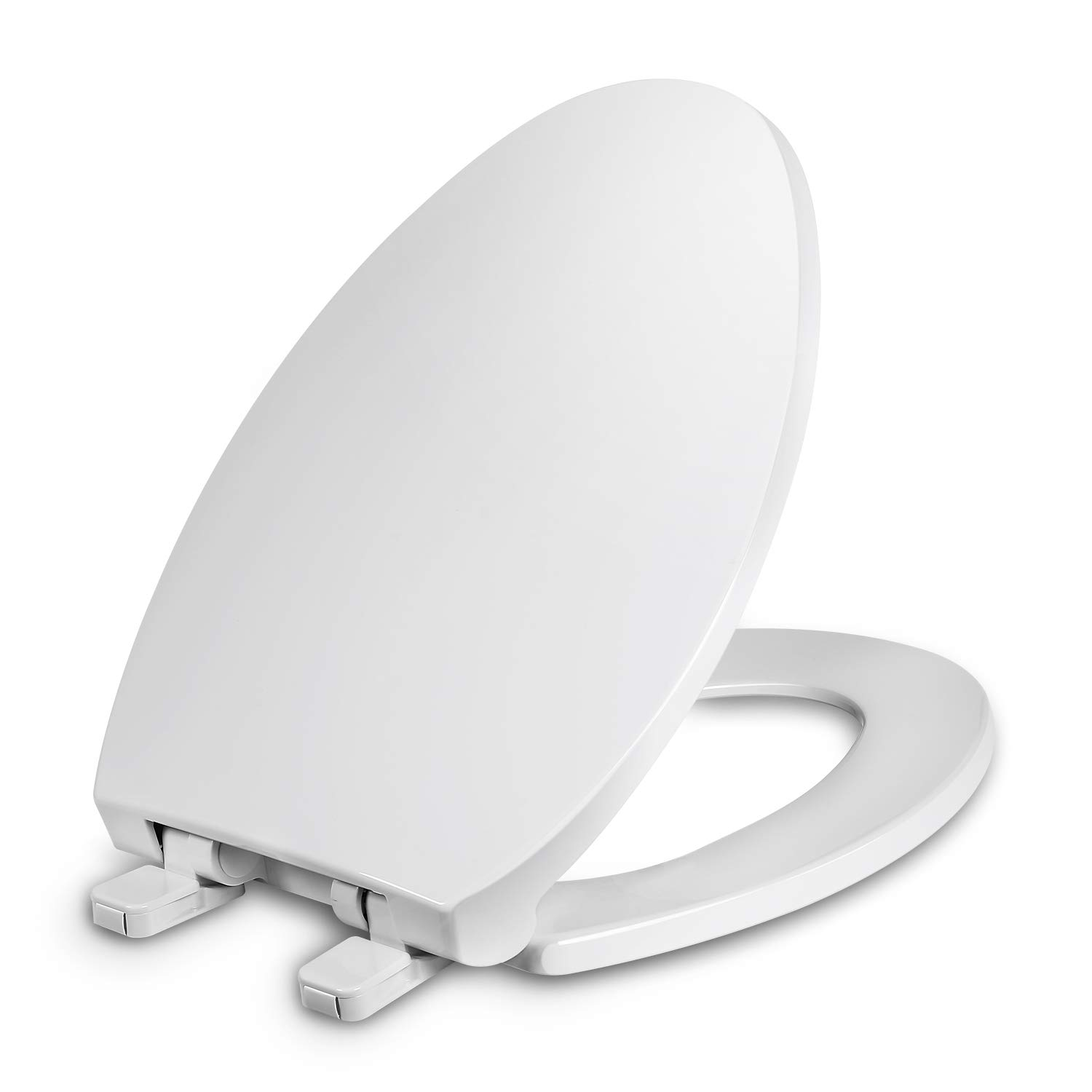 Brilliant Elongated Toilet Seat With Cover Slow Close Easy To Install Plastic White Fits All Elongated Or Oval Toilets Squirreltailoven Fun Painted Chair Ideas Images Squirreltailovenorg
