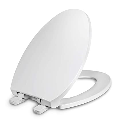 Pleasant Elongated Toilet Seat With Cover Slow Close Easy To Install Plastic White Fits All Elongated Or Oval Toilets Spiritservingveterans Wood Chair Design Ideas Spiritservingveteransorg