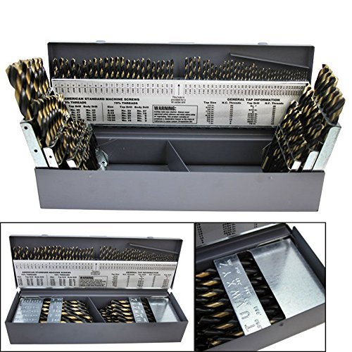 COLIBROX--115 PC PIECE METAL COBALT FRACTIONAL DRILL INDEX BIT SET KIT FOR STEEL COBALT. 15 cobalt drill bits comes organized in a metal indexed storage case for easy transport to your worksite.