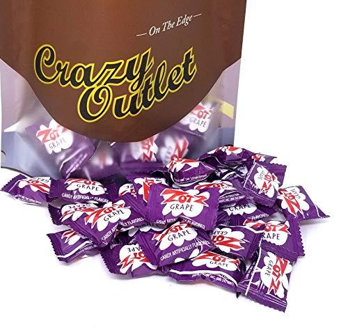 (CrazyOutlet Pack - Zotz Fizzy Hard Candy Grape Flavored Bulk Pack, 2)