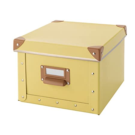 home office storage boxes. Fjalla Home Office Storage Box With Lid - Yellow Boxes P