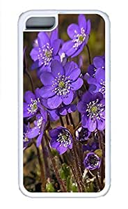 The Beautiful Purple Flower Essential Phone Case For iPhone 5C - Summer Unique Cool 5c Cases White Soft Edge