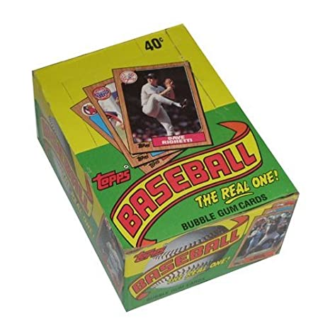 Topps 1987 Baseball Wax Pack Trading Card Box 36 Packs Possible Rookie Cards Including Barry Bonds Rafael Palmeiro And Barry Larkin