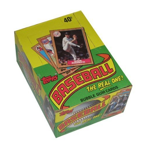 Topps 1987 Baseball Wax Pack Trading Card Box (36 Packs) Possible Rookie Cards Including Barry Bonds, Rafael Palmeiro and Barry Larkin from Topps