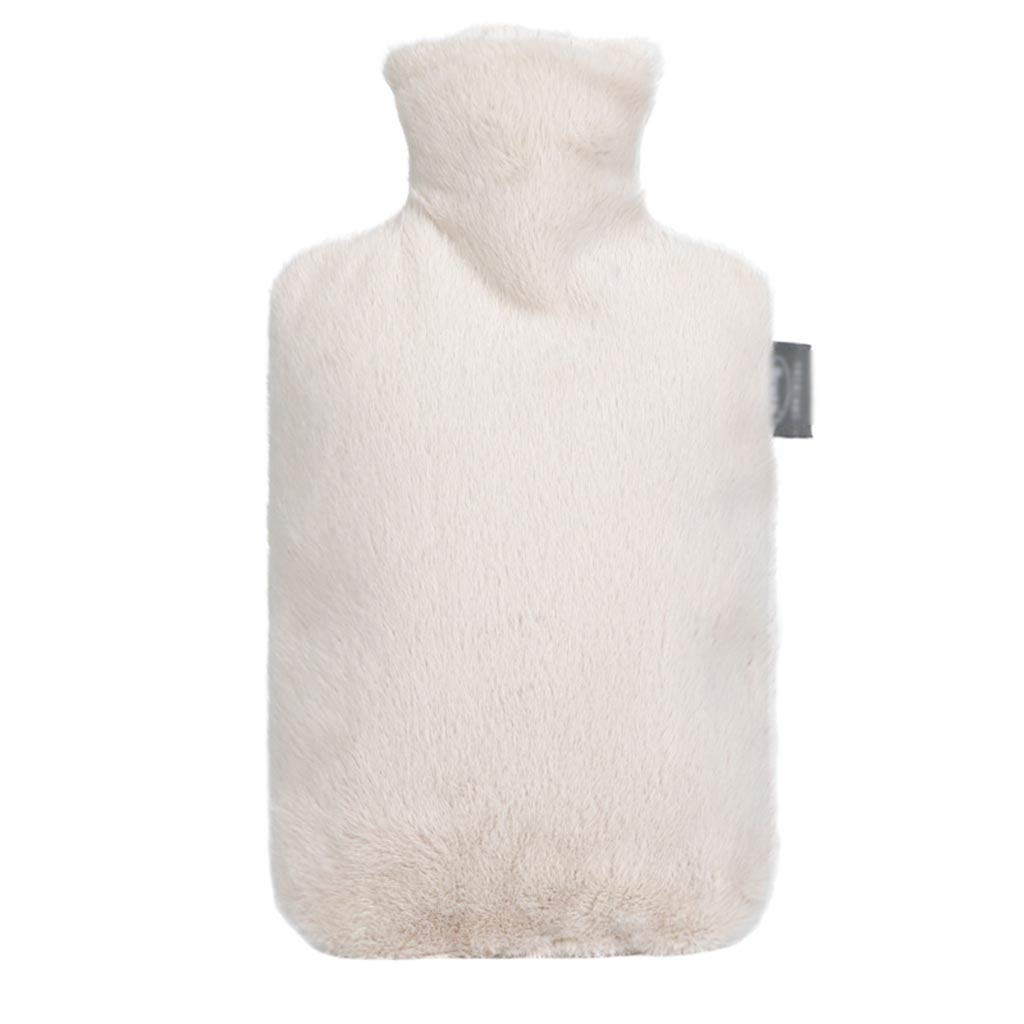 CFJKN Hot Water Bottles 2 Liter, Hot Water Bottles Rubber with Knit Cover Classic Hot Water Bag Soft Cotton for Pain Relief,White_32x20cm/13x8inch by CFJKN