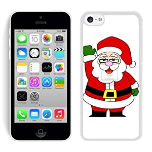 Iphone 5C Case,Glasses Christmas Santa Claus White Cover Case Fit Iphone 5C Cover