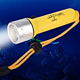 1200LM CREE XM-L T6 Underwater Submarine Light, Adjustable and Waterproof Handheld Light, Great for Diving and Other Outdoor under water Sports (Battery not Included)