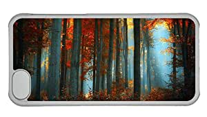 Hipster iPhone 5C uncommon case thick forest PC Transparent for Apple iPhone 5C