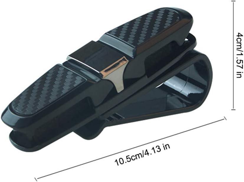 doppelter Sonnenbrillenclip mit Ticketkartenhalter DokFin 2er-Pack Brillenhalter f/ür Auto Sonnenblende Sonnenbrillenhalterung 180-Grad-Drehhalter f/ür Auto-Brillen