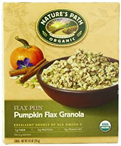 Nature's Path Organic Flax Plus Pumpkin Granola Cereal, 11.5-Ounce Boxes (Pack of 6)