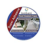 Loobani Super Adhesive Roof Sealant Tape, Quick & Fast Deploy for House and RV Roofing Seal, 4'' Width x 16Ft Lenth