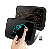 Mini Keyboard Touchpad, 7Lucky Backlit 2.4GHz Wireless Touch Keyboard Mouse : Handheld Remote Control Whole Panel Touchpad for Smart TV, TV Boxes, PC, Laptop, Microsoft Surface Tablet, HTPC, IPTV ect