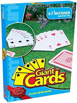 Juego de Cartas Gigantes de jardín, de King Fisher (GA013): Amazon.es: Juguetes y juegos