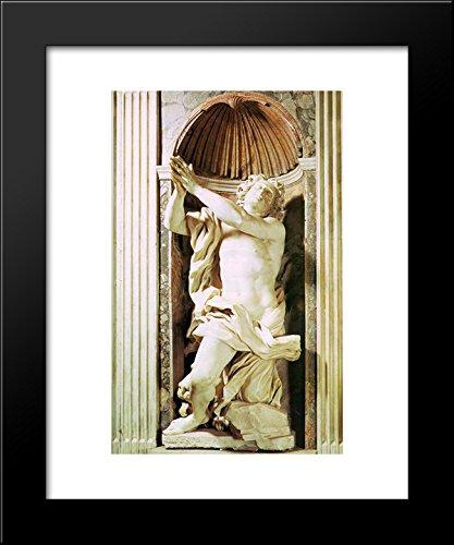 Daniel and the Lion 20x24 Framed Art Print by Gian Lorenzo Bernini -