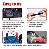 Suuwer SUW020, 2-Amp Fully-Automatic Smart Charger, 12V Battery Charger, Battery Maintainer, for Sealed Maintenace Free AGM, SLA, AGM, Gel Cell, iGel, LTV, Lead Acid Battery or Lithium