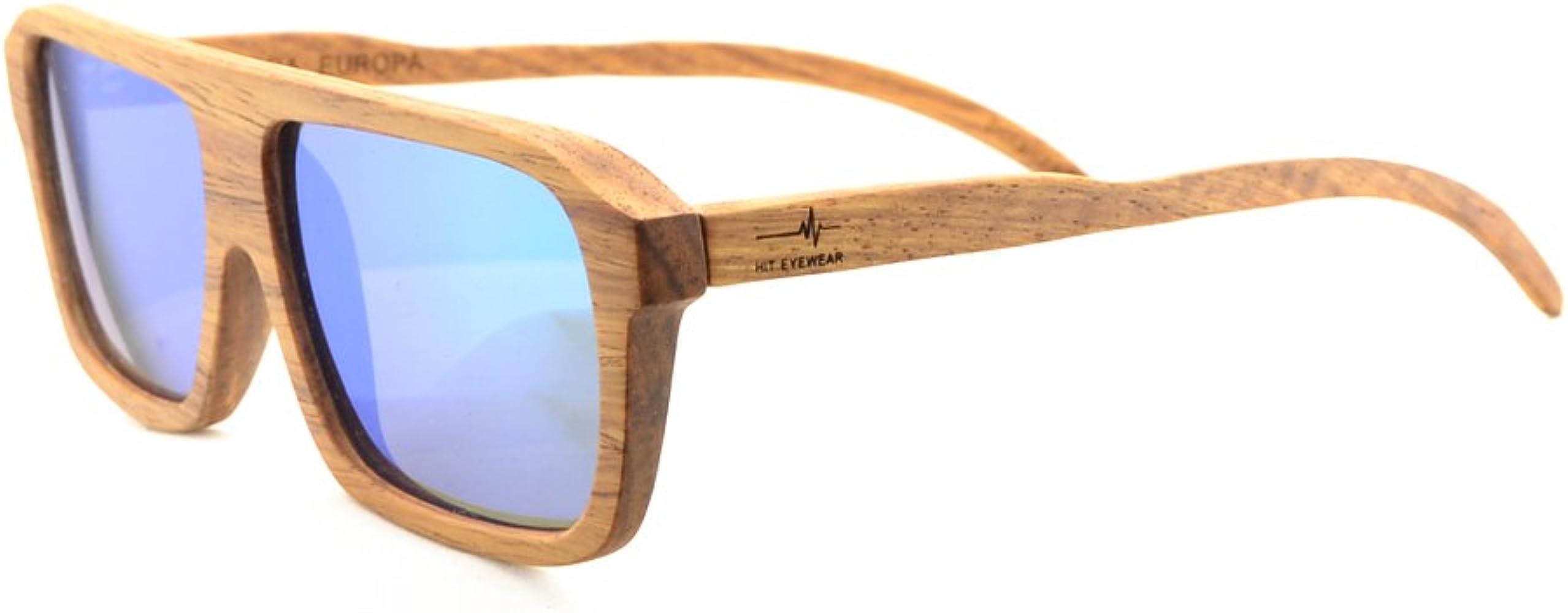 Gafas de Sol Modelo Wayfarer Polarizadas de Madera Color ...