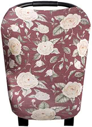 Copper Pearl Baby Car Seat Cover Canopy and Nursing Cover Multi-Use Stretchy 5 in 1 Gift Aspen by Copper Pearl