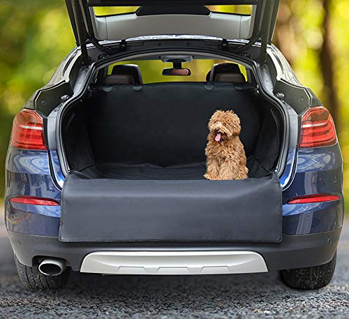 Docamor Pet Trunk Cargo Liner -Dog SUV Car Seat Covers Oxford-Dog Hammock with Side Protection Waterproof -Quick Installation Anti-Scratch Nonslip Washable Pet Car Seat Cover