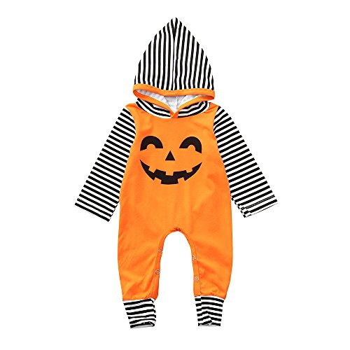 PHOTNO Toddler Baby Boy Girl Clothes,Halloween Hooded Jumpsuit Romper Bodysuit Playsuit Costume Outfits -