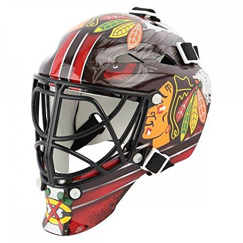 Cat Eye Goalie Cage - New Chicago Blackhawks Franklin Sports Mini Hockey Goalie Mask - NHL