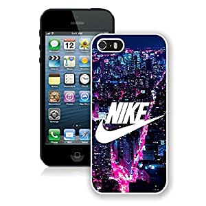 iPhone 5S NIKE Logo New York City White Screen Phone Case Charming and Unique Design