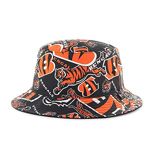 '47 Cincinnati Bengals Bravado Printed All Over Bucket Hat - NFL Gilligan Fishing Cap ()