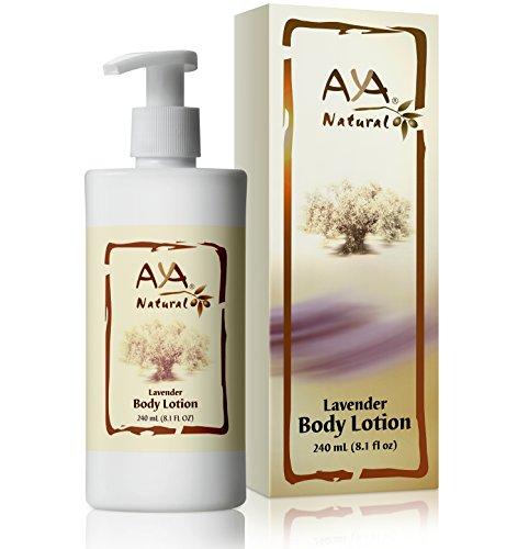 Lavender Body Lotion for Dry Skin - Natural Vegan Itchy Cracked Skin Moisturizing Cream 8.1 oz - Olive, Jojoba, Avocado & Almond Oils Blend