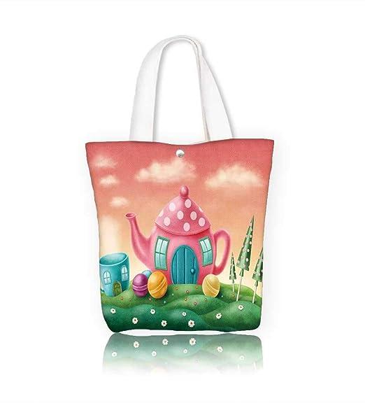 Bolsa de lona con diseño de fantasía con flores de geranio y ...