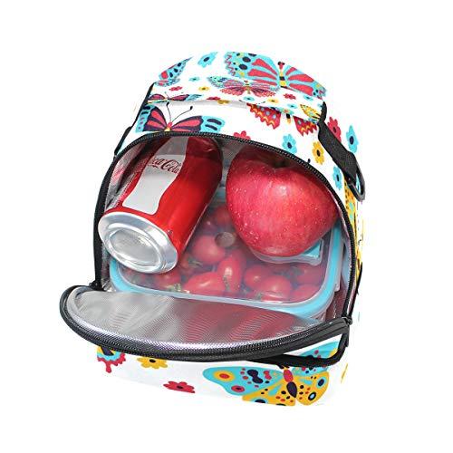de ajustable el aislamiento de almuerzo para pincnic con de correa Bolsa FOLPPLY la mariposas escuela para hombro y qxRz5A4An