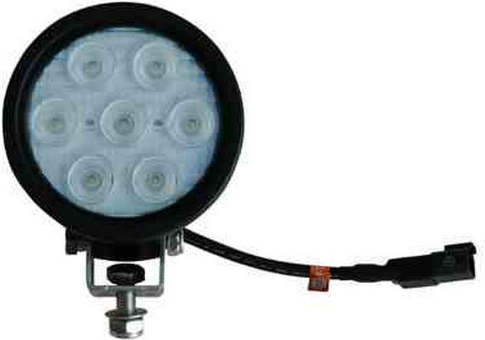"-Black-Spot 21 Watts LED Light Emitter Round 9 to 32 Volts DC Stud Mount 4.5/"" Diameter"