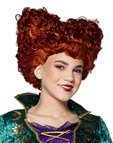 Spirit Halloween Hocus Pocus Winifred Sanderson Wig for Kids Orange -