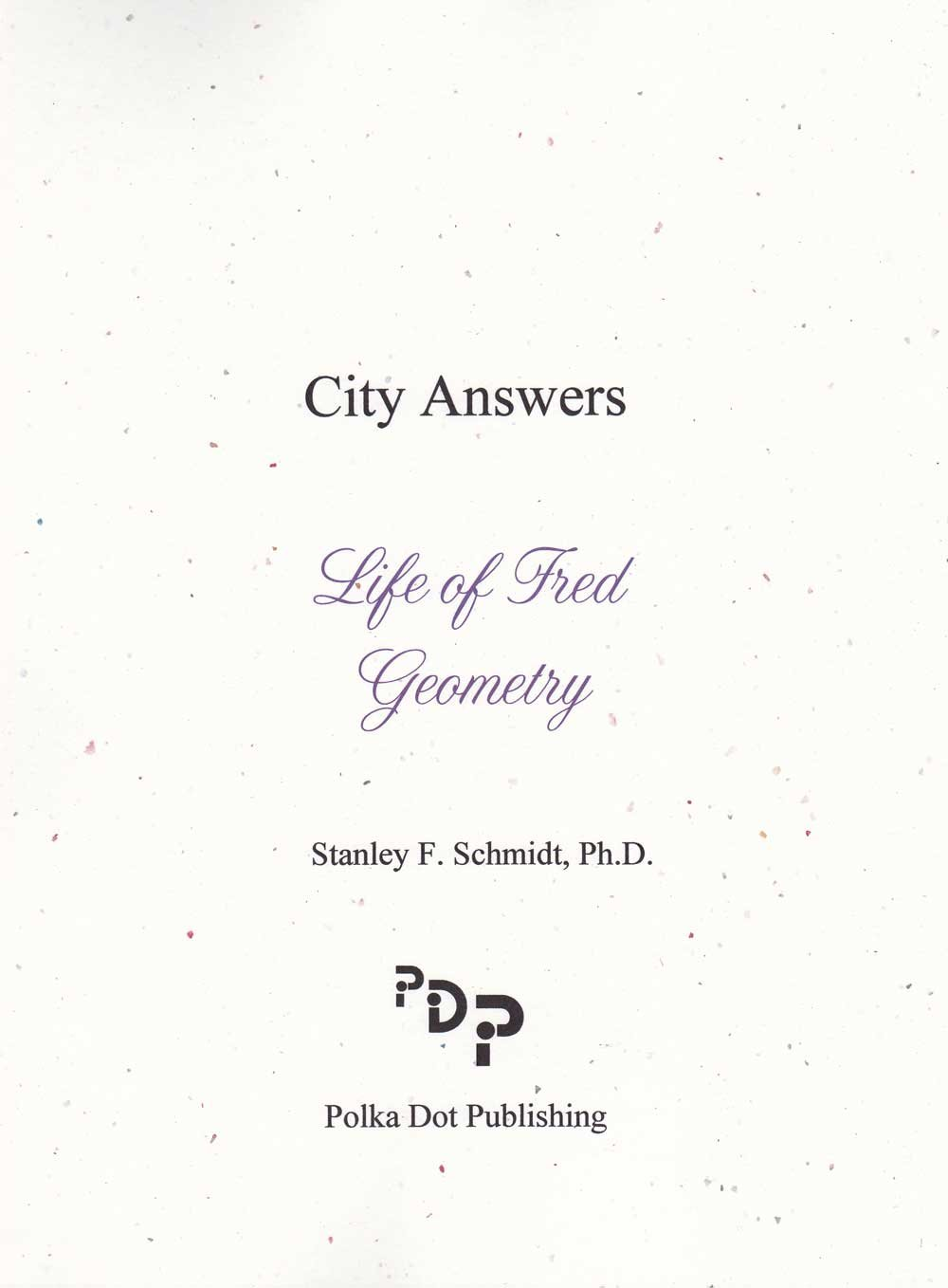 Download Life of Fred : Geometry Answer Booklet pdf