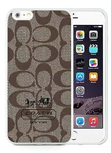 High Quality iPhone 6S Plus TPU Skin Case ,Coach 6 White iPhone 6S Plus Screen Cover Case Popular And Unique Custom Designed Phone Case
